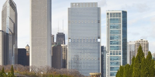 Large bluecross tower chicago