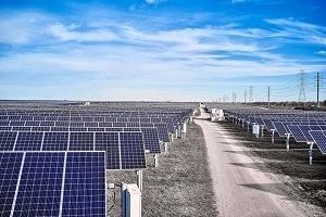The Alamo 1 solar farm sits on 445 acres of private land on San Antonio's south side. It began operations in December 2013, was upgraded in 2019, and has a capacity of 39.2 MWac.