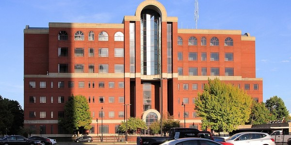 Large sangamon county courthouse