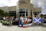 Team GB, a collective of six competing teams from the United Kingdom, visited Jaguar Land Rover Austin on Wednesday.