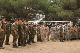 Soldiers participating in Operation Active Fence demonstrated their skills last month.
