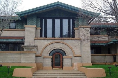 The Dana-Thomas House State Historic Site, designed by Frank Lloyd Wright in Springfield