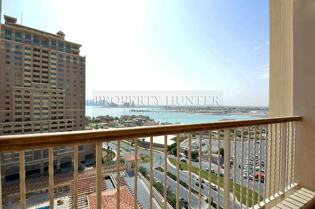 The view from an available two bedroom apartment in Porto Arabia