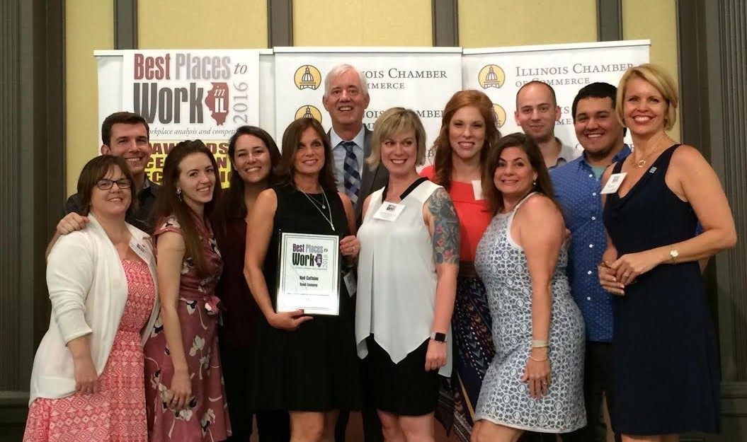 "Red Caffeine was recognized as among the 30 best in the ""Small Companies"" category for employee engagement and company culture."