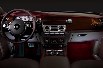 Interior of the Ghost evokes a sense of luxury and tradition.