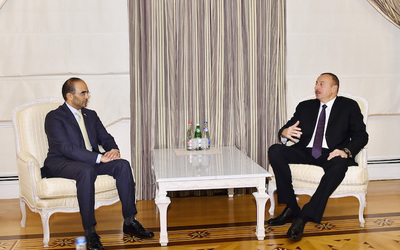 Chairman of Dubai Chamber meets with president of Azerbaijan