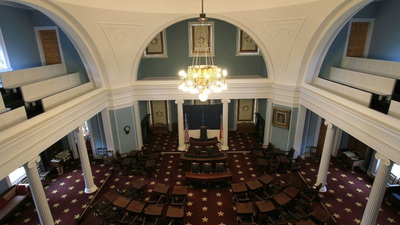 The interior of the North Carolina Capitol Building in Raleigh, North Carolina.
