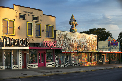 South Congress shops, including Yard Dog, Maya, Lucy in Disguise and Tesoros.