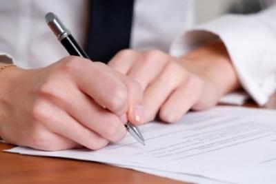 Medium writing letter hand