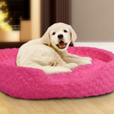 Holiday Pet Bed Cuddle Round Plush Pet Bed