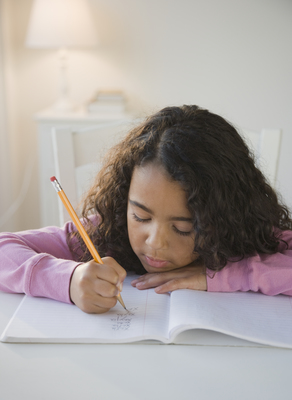 A quiet, well-lit space without distractions will help children concentrate on their homework.