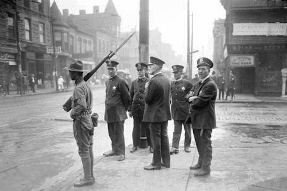 Chicago Mayor William Hale Thompson called out the National Guard to quell a race riot in the city on July 27, 1919.