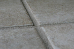 Tile grout isn't usually noticeable unless it is dirty.