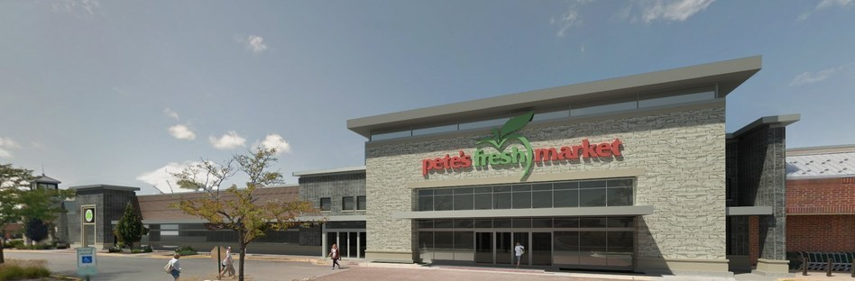 Artist rendering of new Pete's Fresh Market at Rice Lake Square in Wheaton.
