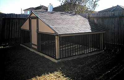 custom dog house gives your pet its own comfy turf in backyard rh homes1 statesman com Animated Dog House backyard pet dog house