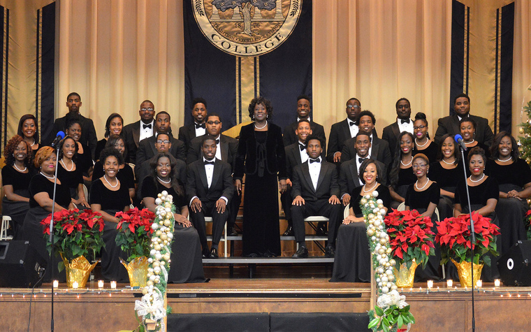 The Stillman College choir typically goes on tour each year.