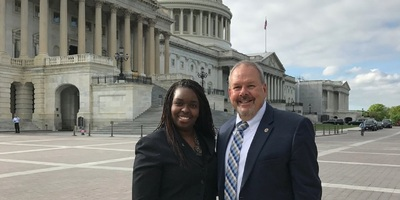 West Virginia State Bar President Meshea Poore with President-Elect Dean Rohrig.