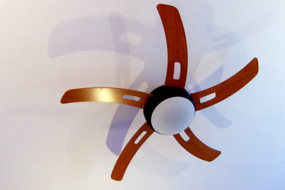 A ceiling fan does not have to be an archaic sore thumb in a modern home.