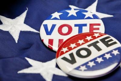 Medium vote closeup