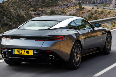 Aston Martin's sleek body is built for the road and speed.