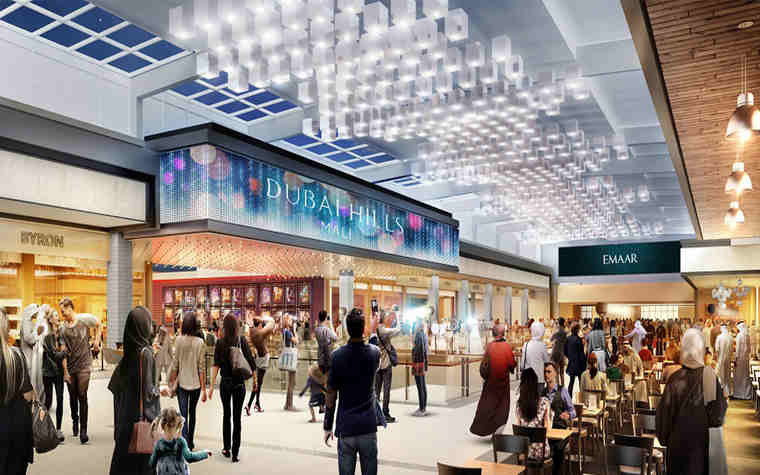 EMAAR PROPERTIES: Dubai Hills Mall coming to life with on