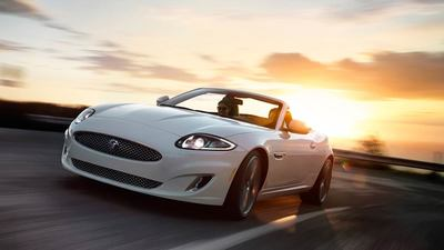 The Jaguar XK, shown here in a convertible style, is a highly-rated luxury vehicle that focuses on safety and comfort.