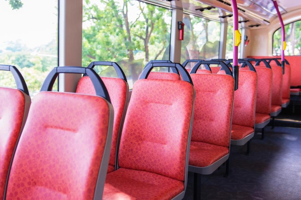 Each DASH bus features spacious windows to improve views.