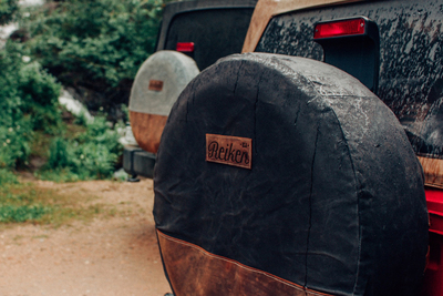Reiken tire covers are the product of a successful Kickstarter campaign.