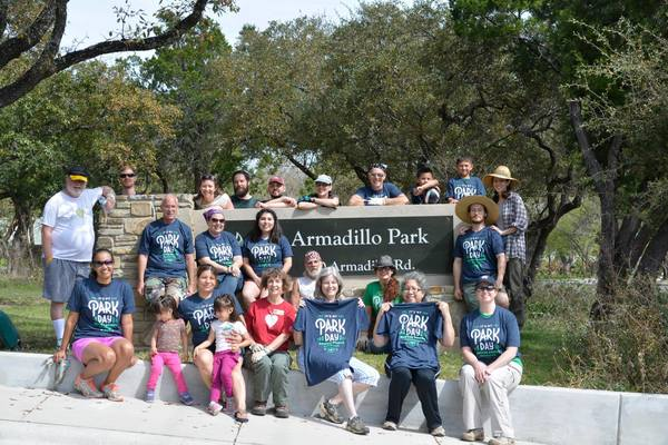 Armadillo Neighborhood Park is a two-acre woodland area with hiking trails and a dedicated team of landscaping volunteers.