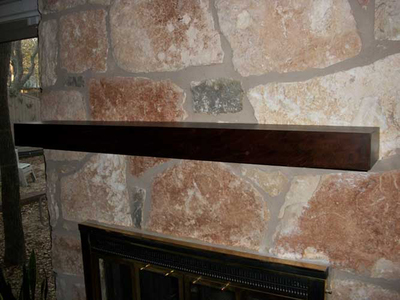Contemporary, minimalist mantels have become hugely popular in the past couple years.