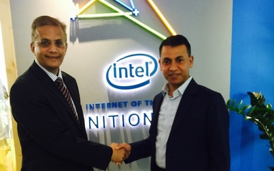 Amanulla Khan, right, Linksys' director for the Middle East