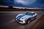 Using boom rigs, DeFoor can capture motion for unique images, such as this shot of a Dodge Viper on the road.