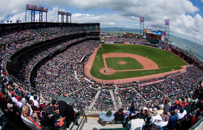 AT&T Park in San Francisco, home of the Giants.
