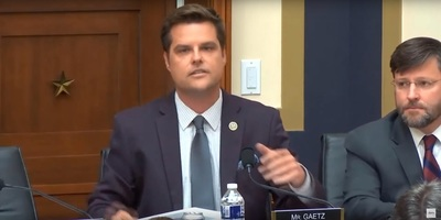 U.S. House Rep. Matt Gaetz, who represents Florida's 1st District, speaking before the House Judiciary Committee