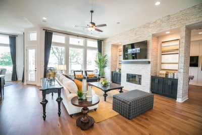 Buyers can see a stunning Grand Endeavor Homes design by touring the model in Georgetown's Woodland Hills.
