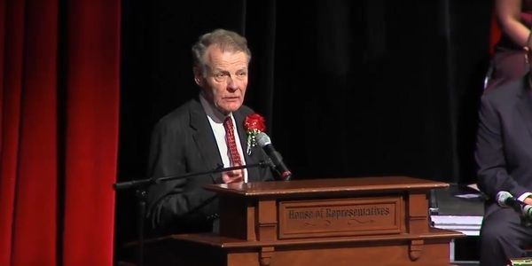 House Speaker Michael Madigan (D-Chicago) on inauguration night
