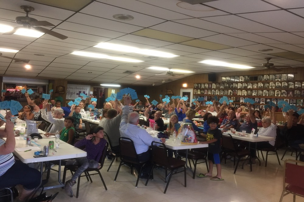 A recent Rock Island auction raised funds to buy weighted blankets for children with autism.