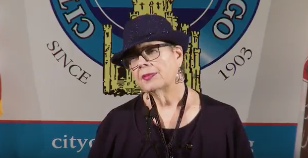 Chicago Teachers Union Chief Karen Lewis addresses the City Club of Chicago on Wednesday, May 23, 2017