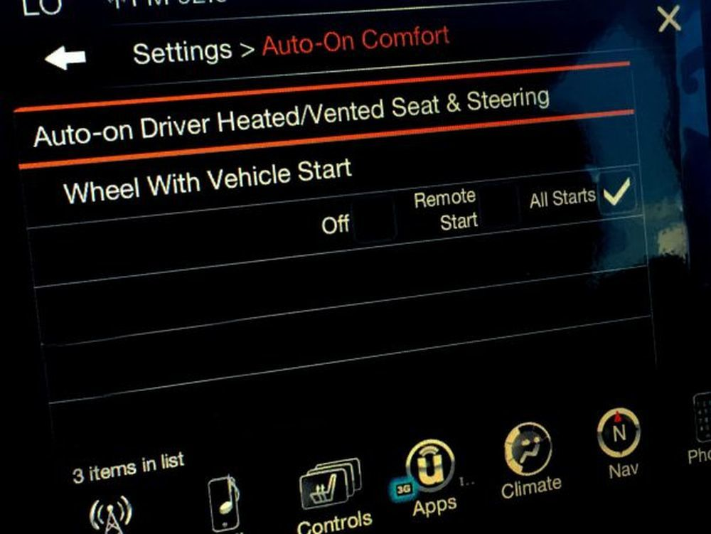 Heated seats are especially convenient on vehicles equipped with remote start.