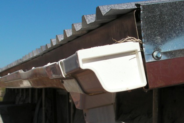 Seams in rain gutters can be the source of leaks and structural failure.