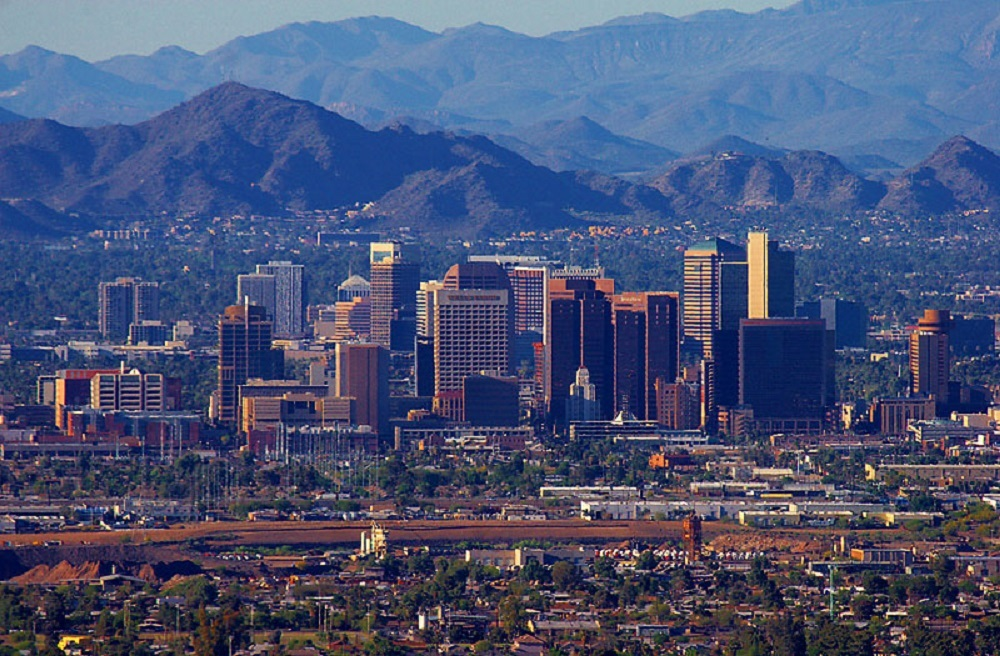 Arizona moved up to third in personal income growth.