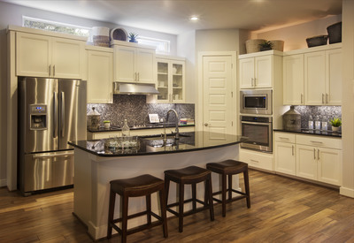 The kitchen of Scott Felder's Buchanan model in Northwoods.