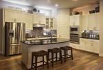 The kitchen of Scott Felder's Buchanan model in Northwoods.