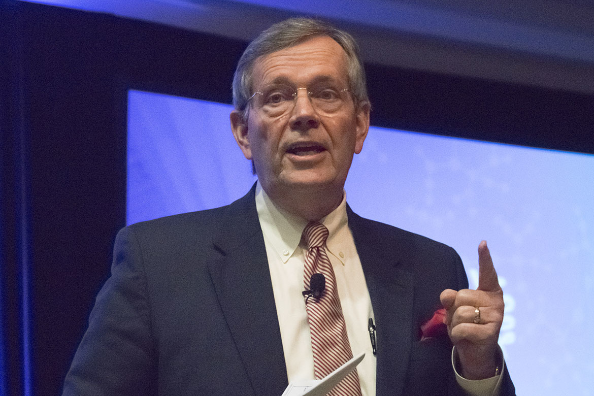 Former HHS Secretary Mike Leavitt said physicians need to lead the change in the health care system.