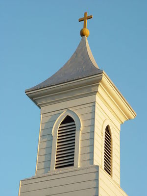 Large churchsteeple
