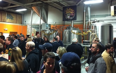 About 200 people attended the HiJinx Brewing Company grand opening ceremony at the Bridgeworks Enterprise Center in Allentown.