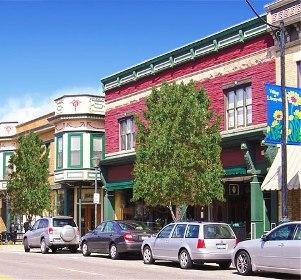 Medium streets of libertyville downtown bldgs