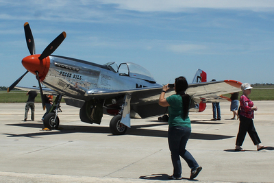 The show will feature vintage aircraft of the Commemorative Air Force.