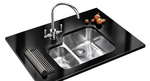 A modern kitchen sink can add noticeable flair to the home.