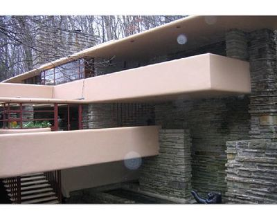 Architect Frank Lloyd Wright used PPG Industries products in designing and constructing his famous Fallingwater home.